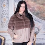 GIACCA IN ORYLAG REX BEIGE CON CASHMERE