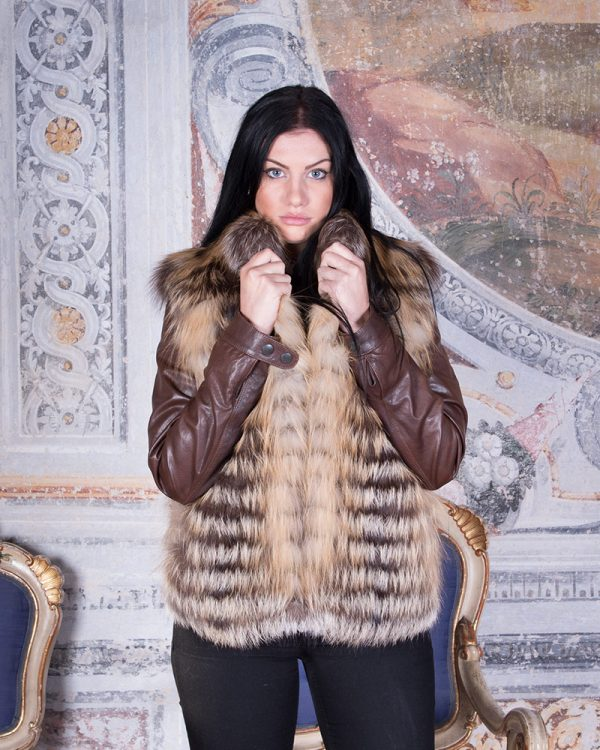 GILET IN VOLPE ROSSA