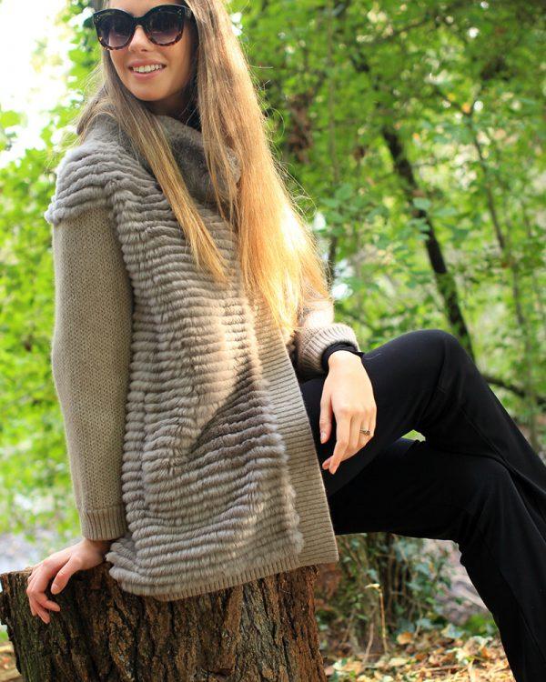 Giacca in lana cashemere e orilag rex